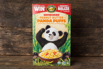 Thumb 400 nature s path envirokidz peanut butter panda puffs cereal 10 6 oz
